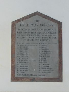 Scotton_war_memorial_in_church