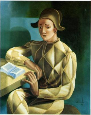 """""""Retrato Clássico de Arlequim"""" 1941. Almada Negreiros"""