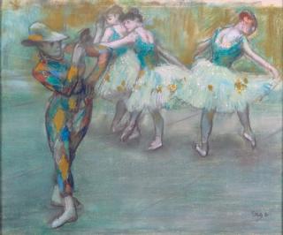 Arlequin danse - Edgar Degas ca. 1890